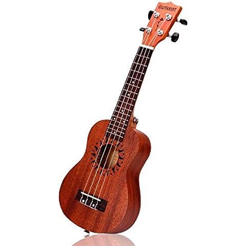 Vovotrade 21 pulgadas Soprano Ukulele Sapele 15 Instrumento musical de la guitarra hawaiana trastes