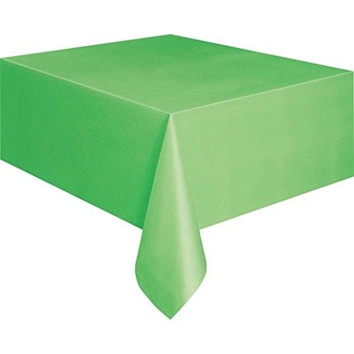 Jiacheng29 137x Weinlaub Einweg Kunststoff Rechteck Tisch Bezug Party Catering Tischdecke, PEVA, lindgrün, Einheitsgröße
