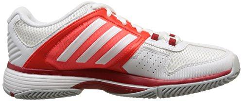 adidas Barricade Team 4, Scarpe da Tennis Donna Bianco (Blanc (White/White/Solar Red))