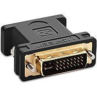 UGREEN Adaptateur DVI VGA Connecteur DVI-I 24+5 vers VGA 15 Broches Supporte 1080P Plaqué Or Adapter DVI Mâle à VGA Femelle Pour Écran, Moniteur, PC, DVD, HDTV
