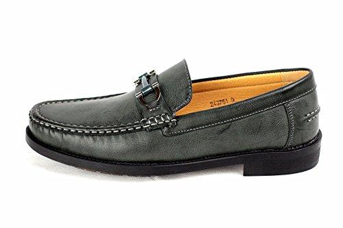 Pour Hommes Chaussures À Enfiler Mocassin Moccasin Élégant Créateur Mode Travail Décontracté Taille 6-12 Kaki