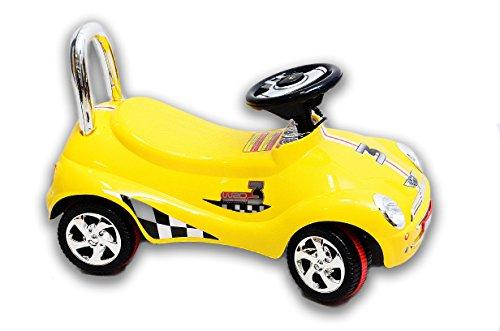 Best For Kids C4932Y Top Rutscher Auto Autorutscher mit ELEKTRONIK Porsche Rutscherfahrzeug - Gelb - 2
