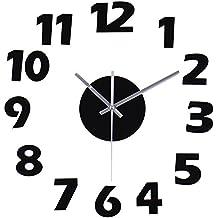 reloj pared moderno adhesivo reloj cocina salon pared silencioso nmeros arbigos de acrlico