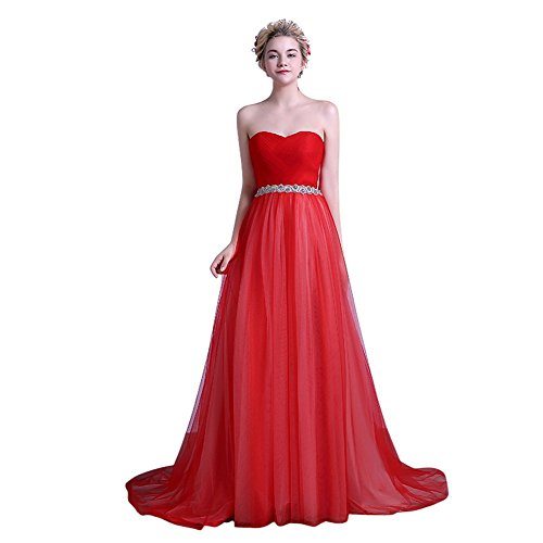 Drasawee - Robe - Taille empire - Femme red