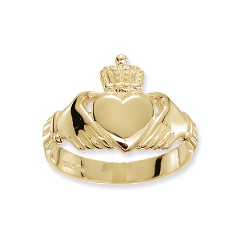 Klassischer 9 Karat (375) Gold Herren - Claddagh Ring WJS17179