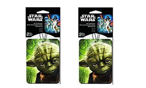 Star Wars Yoda 2confezioni deodorante per auto che pendono x 2(ogni confezione 2PC, per un totale di 4pezzi)