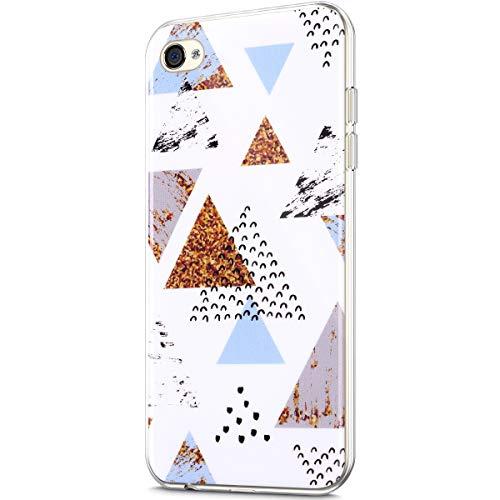 Marmor Hülle Kompatibel mit iPhone 4S/4 Hülle,Matt Marmor Stein Marble IMD Weiche Flexible Silikon Handyhülle Rückschale Durchsichtige Bumper Handy Hülle Case Tasche Schutzhülle,Marmor R