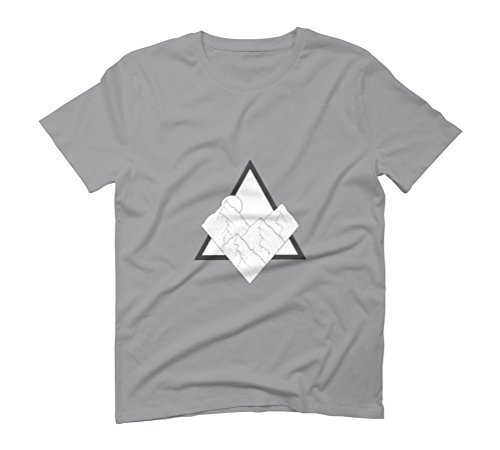 Triangle Mountain Men's Graphic T-Shirt - Design By Humans Opal