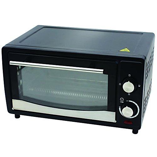 ZEPHYR Z-1441-R Ofen-Toaster mit Doppelglastür 30 minuten Timer, 4 Stufe Heizungsselektor, 12 L, 1200 W, schwarz (Toaster Grill-ofen)