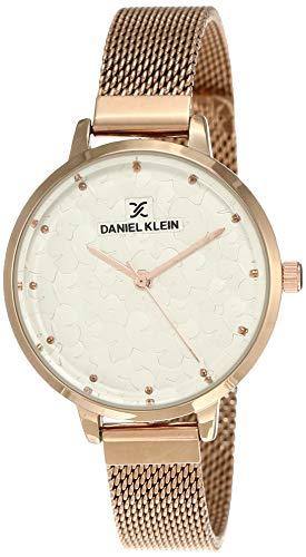 Daniel Klein Analog White Dial Women's Watch-DK11637-5