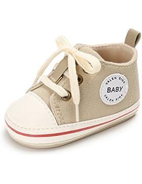 anbiwangluo Reizende Segeltuch-Baby-Turnschuh-Rutschfeste Weiche Nette Trainer-Schuhe 0-18M