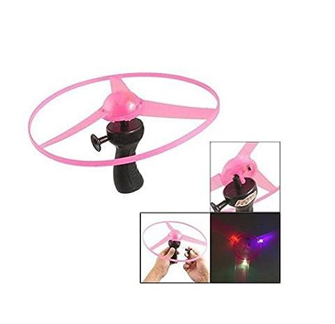 ULOOIE Kids Child LED Light Flash Flying Saucer Helicopter Toy (Random color)