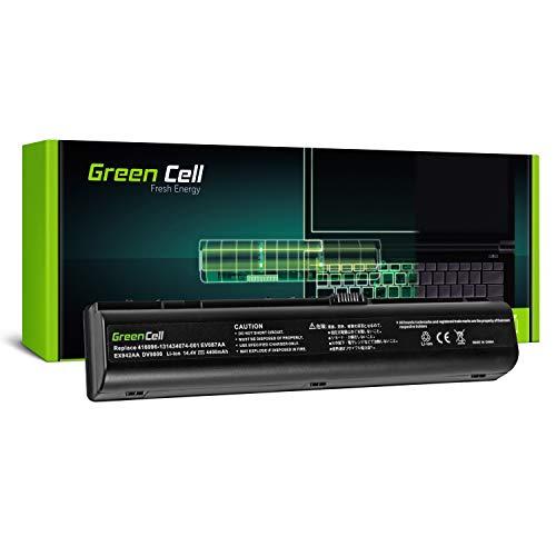 Green Cell EV08 Laptop Akku für HP Pavilion DV9000 DV9100 DV9200 DV9300 DV9400 DV9500 DV9600 DV9700 DV9800 DV9900 (8 Zellen 4400mAh 14.8V Schwarz)