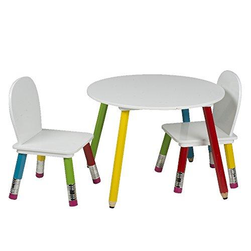 Home In Style Matita Bambini da Tavolo con 2 sedie per Bambini per ...
