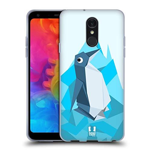 Head Case Designs Penguin Origami Soft Gel Hülle für LG Q7 / Q7 Plus (2018) Penguin Gel