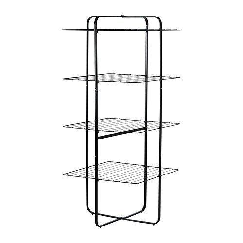 Ikea Wäscheständer (IKEA MULIG -Wäscheständer 4 Ebenen schwarz)
