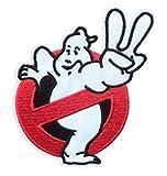 Athena Ghostbusters 8,6x 9,5cm Film Peace Logo keine Ghost gestickt Eisen/Aufnäher Patch Aufnäher