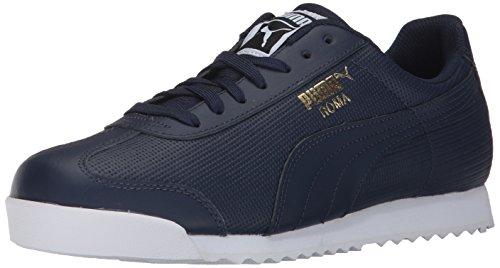 Puma Men's Roma Classic Perf Sneaker,Peacoat White Team Gold,7 M US (Puma Herren Roma)