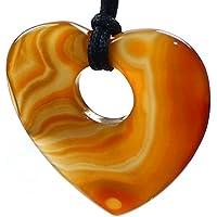 budawi® - Herz Karneol 70 x 70 mm, Edelstein Herz Karneol flach gebohrt, Carneol Anhänger preisvergleich bei billige-tabletten.eu