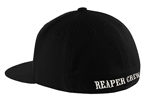 SOA Sons of Anarchy Reaper Crew Fitted Baseball Cap Hat (Small/Medium) -