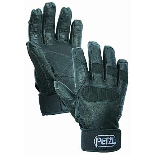 Öse-blk Leder (Petzl Erwachsene Handschuhe Cordex Plus Schwarz, L)
