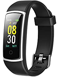 YAMAY Fitness Tracker,Fitness Watch with Blood Pressure Watch Heart Rate Monitor Smart Watch IP68 Waterproof Pedometer Watch Activity Tracker Watch Step Counter Sleep Monitor for Kids Women Men