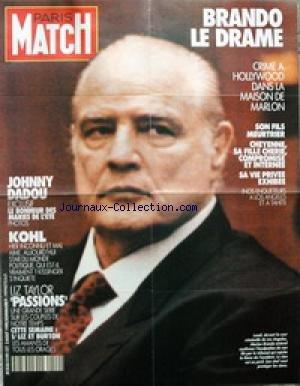 AFFICHE DE PRESSE [No 2149] du 02/08/1990 - MARLON BRANDO - LE DRAME - SON FILS MEURTRIER - JOHNNY - DADOU - KOHL - KISSINGER S'INQUIETE - LIZ TAYLOR - LES AMANTS DE TOUS LES ORAGES - BURTON.