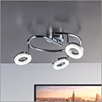 LED ceiling light ceiling lamp GU10 3 x 4 Watt 330 lumen 230 volts adjustable ceiling luminairies dome lamp wall light from B.K.Licht