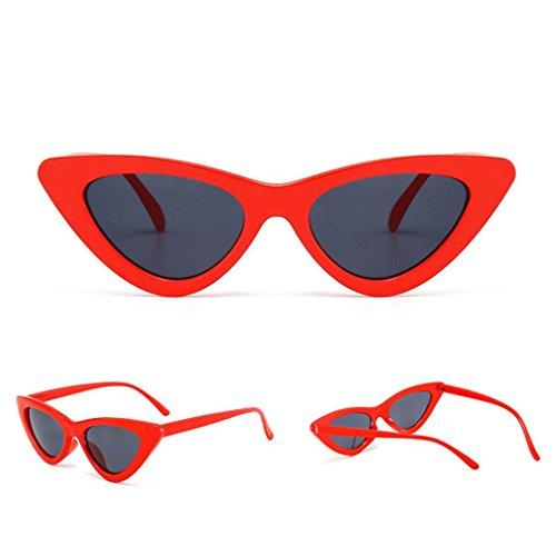 Preisvergleich Produktbild Metallrahmen Verspiegelt Linse Unisex Piloten Sonnenbrille Fashion Cat Eye Shades Sonnenbrille Integrierte UV Candy Coloured Gläser Mode Lady Sonnenbrille Street Shoot Trends Ocean Sonnenbrille (D)