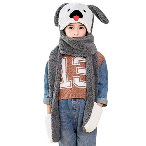 2 Old Yr Kostüm Boy - Cuteelf Winter Rundschal Schlauchschal Strickschal Loop Schal Kinder Jungen und Mädchen Weicher Warm Schal Kinderschal Loopschal
