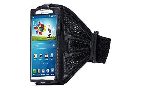 Fitness Jogging Sport Handy-Halterung in SchwarzOberarm Samsung Galaxy S3/S4/S5/S6 Edge S7 Case Apple Nokia HTC für Modelle bis 14,5 x 7cm ( 5,7 Zoll )