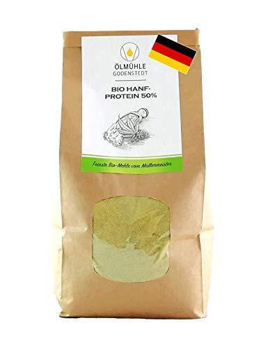 Bio Hanfproteinpulver 50% Bio 1000g Sparpaket aus deutscher Bio Hanfsaat