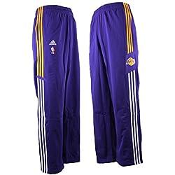 adidas LA Lakers NBA baloncesto de poliéster pantalones de chándal morado P55003, hombre, morado, naranja, small