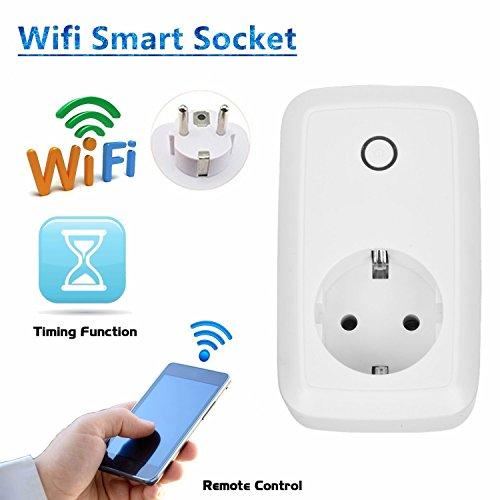 Preisvergleich Produktbild Smart Steckdose,Civake intelligente WLAN Steckdose, smart Wifi Steckdose, WLAN Smart Steckdose mit App Steuerung für IOS und Android