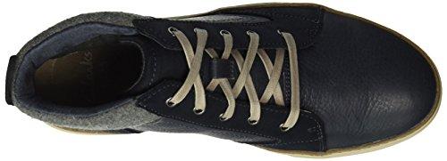 Clarks Lorsen Mid, Haute Sneakers Homme Bleu (Navy)