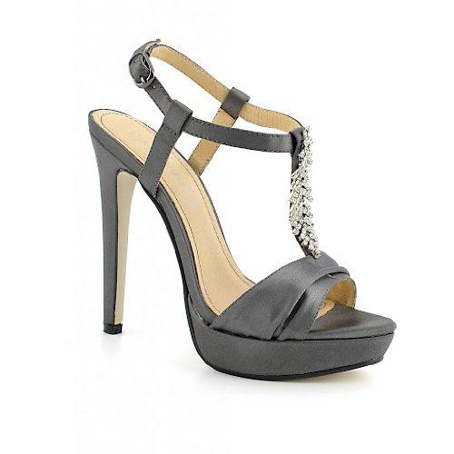 Cafènoir NN005 scarpe donna sandali neri eleganti con strass tacco alto e plateau n° 40