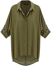 Looses locker casual Bluse shirt mit Knopfleiste
