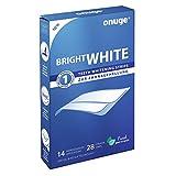 Onuge Bright White Stripes (Zahnbleaching Set mit 28 Bleaching Strips zur Zahnaufhellung in wenigen Tagen,...