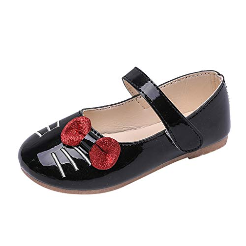 BURFLY Toddler Girl cat Bow Flat Bottom Sandals Flower Girl Dress Bridesmaid Shoes Dance Shoes Princess Shoes
