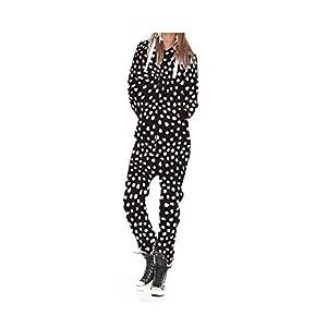 Dame Frauen One Zip Onesie Jumpsuit Playsuit Anzug Schlafanzüge Overalls Hoodies Nachtwäsche