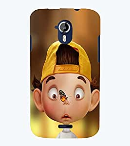 printtech Crazy Boy Back Case Cover for Micromax Canvas Magnus A117