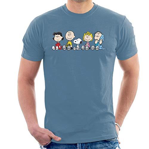 Peanuts The Gang Sit Down Men's T-Shirt (Charlie Brown Schwester)