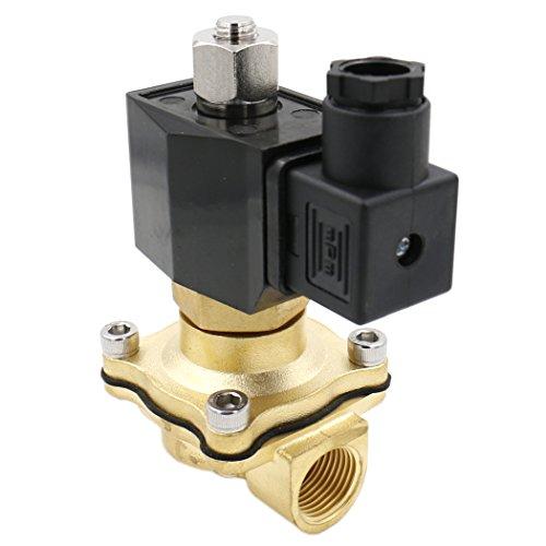 Normalerweise Offene Magnetventil (heschen Messing Elektrisches Magnetventil 2WK160–15PT 1/2DC 12V Direct Action Wasser Air Gas Normalerweise offen)