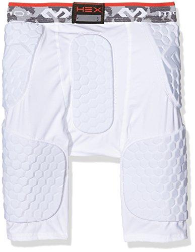 McDavid - Pantaloncini sportivi da uomo, modello Hex Pad Bianco