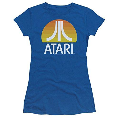 Atari Video Games Classic Yellow Sun Logo Clean Juniors Sheer T-Shirt Tee