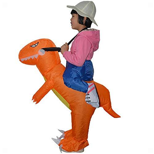 XXF Aufblasbarer Anzug Kind Dinosaurier Kostüm Hosen Aktivität Zeigen Puppe Kinder 'S Sumo Halloween Kostüm,Orange,Höhe 150-180cm