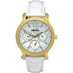 Elesse Unisex Quartz Watch 556MF03-03 with Leather Strap