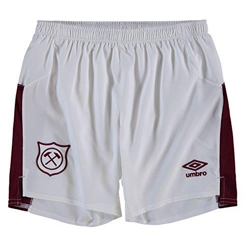 Umbro West Ham 2017/18 - Pantalones Cortos para niños, Color Blanco, Niños, Blanco, UK: LB, EUR: 152cm