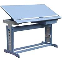 D&S Vertriebs GmbH Schreibtisch Kinder Jugend Schreib Tisch höhenverstellbar und neigbar Blau/Weiß preisvergleich bei kinderzimmerdekopreise.eu