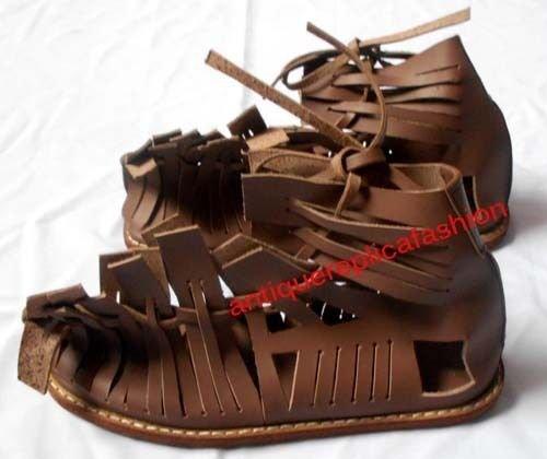 en Leder Sandale Gladiator Armor Griechisch Leder Marching Sandalen (Griechischen Gladiator)